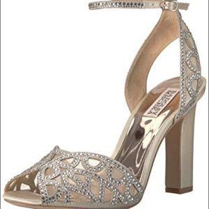 Hart Crystal Embellished wedding shoes